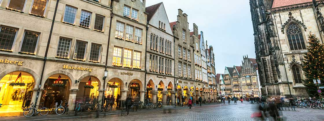 Our location in Muenster - View on historical center